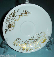 """Wedgwood Plato Gold Elysian Saucer Floral Made in England 6"""" New"""