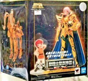 Saint Seiya Ex Myth Aries Cloth Gold & Kiki IN Disciple Of Mu Bandai Tamashii