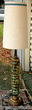 Mid Century Modern Wood and Ceramic Floor Lamp