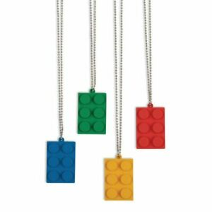 Fun Express Brick Party Dog Tag Necklace For Birthday Jewelry Necklaces Dog Tag