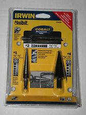 New Irwin Tools 15506SM 3 Piece Unibit HSS and Cobalt Drill Bit Set #1, #2 & #4