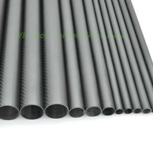 Matt OD12mm 15mm 16mm18mm 19mm 20mm 3K Carbon Fiber Tube/Pipe Roll Wrapped X 1M