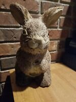 "VINTAGE Rustic Rabbit  Bunny Figure Easter Natural Straw 11"" TALL"