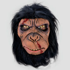 Mens Zombie Dead Monkey Planet Ape Mask Latex Fancy Dress Costume Accessory New