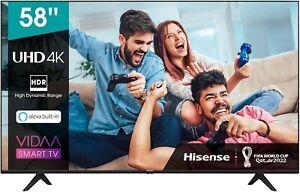 Hisense 58AE7000F 147cm (58 Zoll) Fernseher(4K Ultra HD, HDR,Triple Tuner DVB-C)
