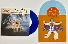 """SLEEPER - THE SUN ALSO RISES SIGNED 7"""" BLUE MARBLED RECORD AUTOGRAPHED  + VEGAS"""