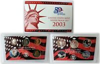 2003 UNITED STATES MINT SILVER PROOF SET W/COA, INCLUDES STATE QUARTERS!