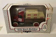 Vintage 1990 Ertl 1926 Mack Bulldog Ace Hardware Truck Bank w/ Crates Die Cast