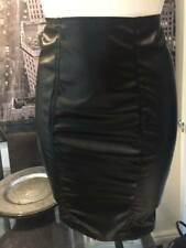 THE FEDERATION LEATHER LOOK KNEE LENGTH HOBBLE  SKIRT  NEW