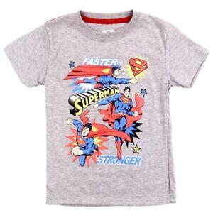 DC Comics Toddler Boys' Superman Faster, Stronger T-Shirt ☆ Man of Steel