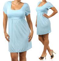 New Women's Loose Fit Short Sleeveless Light Weight Casual Summer Beach Dress