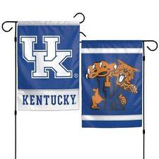 "KENTUCKY WILDCATS 2 SIDED GARDEN FLAG 12""X18"" YARD BANNER  OUTDOOR RATED"