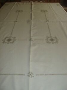ARTS AND CRAFTS LINEN TABLECLOTH