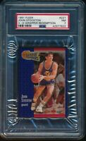 PSA 7 JOHN STOCKTON 1991-92 Fleer 3D Acrylic Wrapper Redemption #221 LL NR-MINT