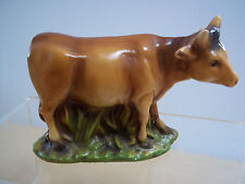 Vintage Chalkware Nativity Scene Large Cow Figurine - Excellent