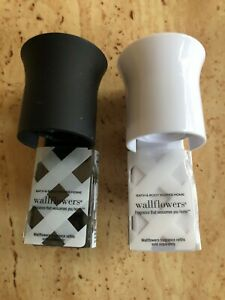 2 Lot of Bath and Body Works WALLFLOWERS White & BlackHome Diffuser Plug In