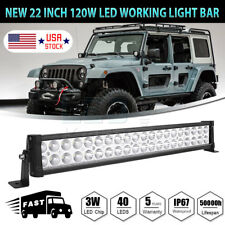 24 inch 120w Led Light Bar Spot Flood Combo Work Boat Auto UTE Truck SUV ATV 22""