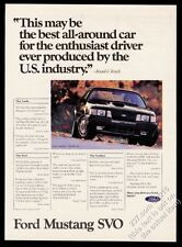 1984 Ford Mustang SVO black car photo vintage print ad