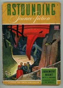 """Étonnante Aug 1943 CL Moore """" ;Judgement Night"""" Housse Story"""