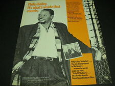 Philip Bailey It's what's inside that counts Original 1986 Promo Poster Ad mint