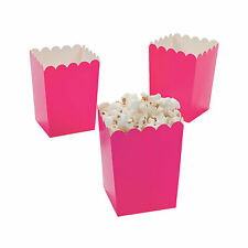 Mini Hot Pink Valentine Popcorn Boxes - Party Supplies - 24 Pieces