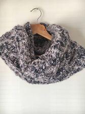 Pia Rossini Grey Blue Heavy Knit Bnwt Acrylic Snood Scarf <T13040