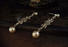Vintage Earrings with Marcasite and Pearl Drop