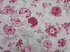 Clarke and Clarke Genevieve Raspberry Design Curtain Upholstery Craft Fabric
