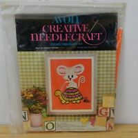 Avon Creative Needlework Crewel Embroidery Kit Pals On Parade Picture Vtg 1974