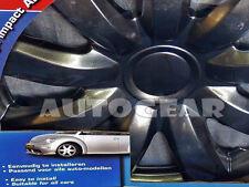 """13"""" inch Charcoal Dark Grey Car Wheel Trims Hub Cap Covers + FREE Ties & Caps"""
