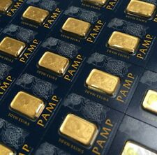 1 gram X5 Multi-Gram Gold Bars=LOWEST PRICE PER BAR FOR PAMP SUISSE w/VERISCAN!