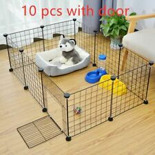 Pet Playpen Foldable Crate Iron Fence Puppy Kennel House Exercise Training Dog
