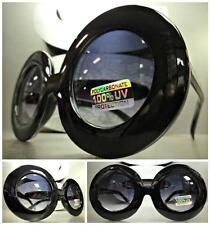 OVERSIZE EXAGGERATED VINTAGE RETRO Style SUN GLASSES Unique Thick Black Frame