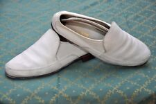 BALLY mens White Leather Loafer shoes size 10E,real UK 9F/US 9.5D/EU 43