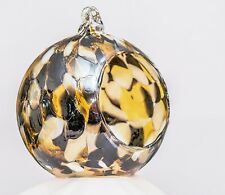 Milford Gold Hanging Night Tea Light Holder Handmade Friendship Glass Globe Gift
