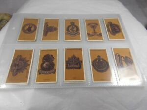 Series of 25 John Player COLONIAL & INDIAN ARMY BADGES Cigarette Cards 1916