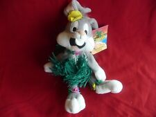 "New! Warner Brothers Hula Bugs Bunny 12"" Bean Bag Plush,Nwt!"