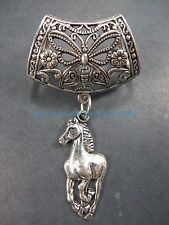 scarf accessories jewelry running horse slider pendant