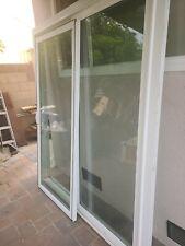 One White Vinyl Sliding Glass Door.72×80Used One(1) Year.with screen door