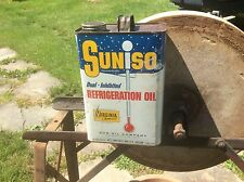 Suniso Dual Inhibited Refrigerator Oil Tin Can , One Gallon , Sunoco Advertising