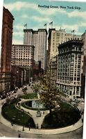 Vintage Postcard - Posted 1916 Bowling Green New York City NY #4428