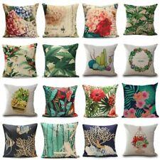 Cotton Linen Hot Vintage Home Decor Pillow Case Sofa Waist Throw Cushion Cover