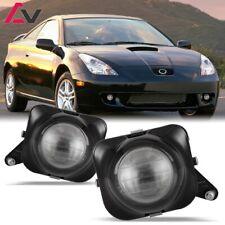 For Toyota Celica 00-05 Clear Lens Pair Bumper Fog Light Lamp Projector DOT Bulb