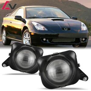For Toyota Celica 00-05 Clear Lens Pair Bumper Fog Light Lamp Projector  Bulb