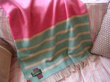 John Hanly Irland Sommer-Merinowolldecke Wolldecke 200x150cm Pink Mint Beige