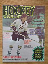 BOBBY ORR Hockey World (November 1975) Magazine BOSTON BRUINS