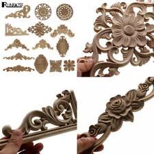 1Pc Unique Natural Floral Wood Carved Wooden Figurines Crafts Corner Appliques F