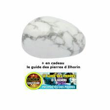 pierre roul/ée ou polie Howlite blanc ou Magn/ésite ILHORIN ESOTERISME Pierre plate en forme de galet
