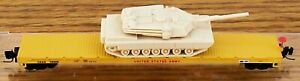 Z SCALE~REL: 3-2010 MICRO-TRAINS MTL UNITED STATES ARMY w/ TANK LOAD  RD# 36008