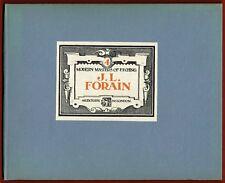 JL Forain, Maitres modernes de l'Eau Forte, Masters of Etching, 12 planches n&b